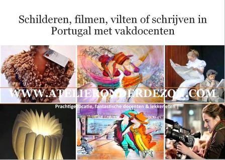atelieronderdezon / vakantiecursus in midden Portugal filmcursus viltcursus schildercursus